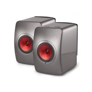 KEF Audio LS50 Wireless Loudspeakers (Titanium/Red) | Unilet Sound & Vision