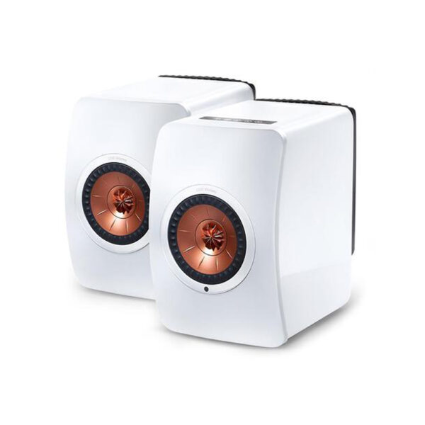 KEF Audio LS50 Wireless Loudspeakers (White/Copper) | Unilet Sound & Vision