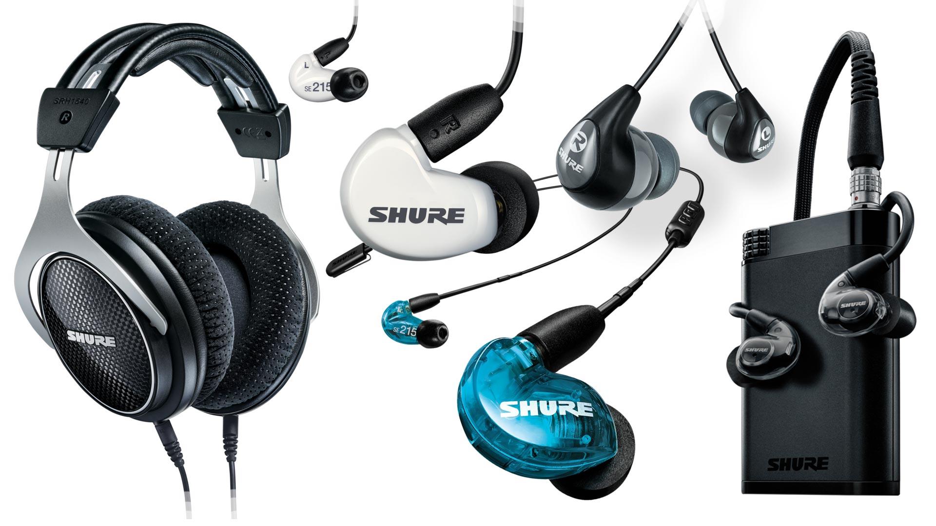 Complete Range Of Shure Headphones & Earphones   Unilet Sound & Vision