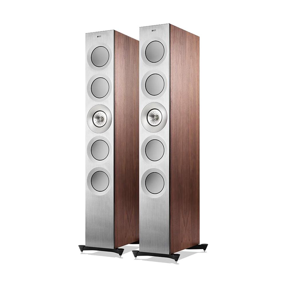 KEF Reference 5 Loudspeaker (Silver Satin Walnut) | Unilet Sound & Vision